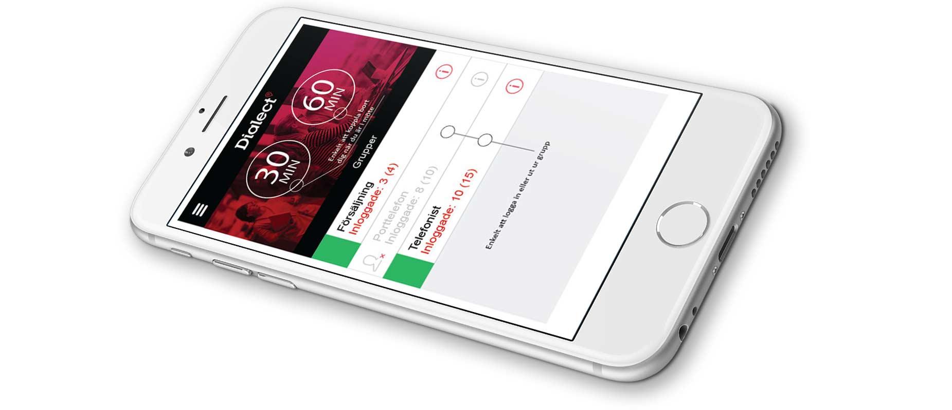 Unified mobilväxel på iPhone